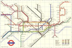 London Underground map 1960