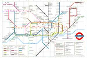 London Underground map 1985