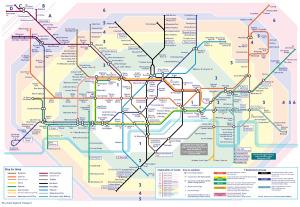 London Underground map 1999