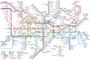 The London Underground map, 2012 (current).