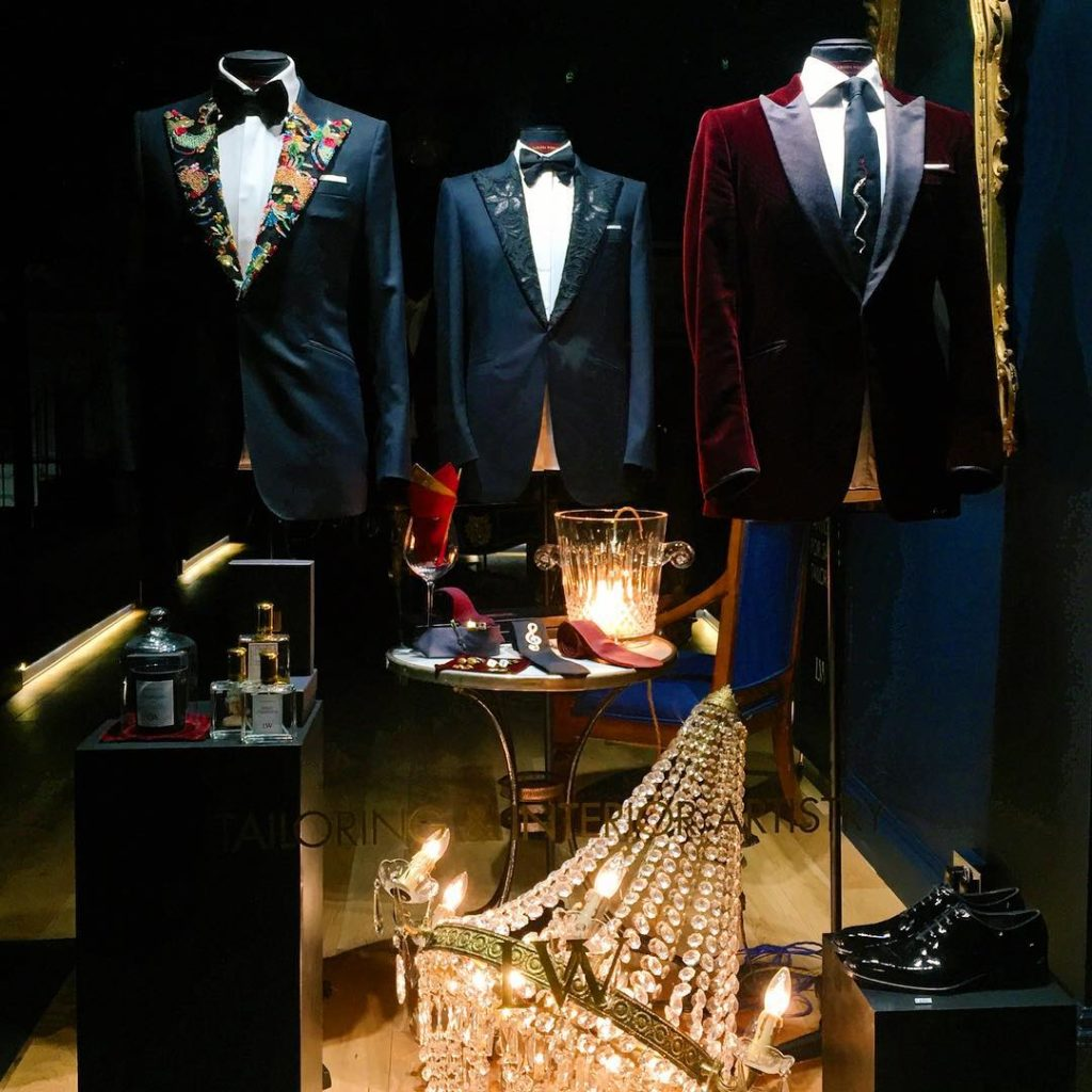 A display at labassawoolfe in Fitzrovia mensfashion fitzrovia joewolfe johanlabassahellip
